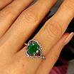 Срібне кільце із зеленим кварцом жіноче - Кільце із зеленим каменем срібло, фото 4