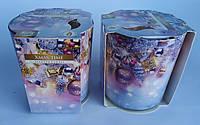 Свечи ароматизированные в стакане Bispol Польша Рождество