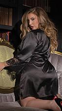 Атласный халат с кружевом, фото 3