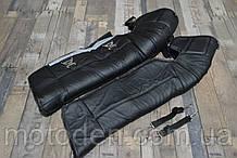 Утеплювач ніг з шкіри (коліна, гомілки та стопи) 72см - висота. Універсальний розмір.