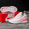 Женские кроссовки Nike Air Max 270 Pink White розовые, фото 5