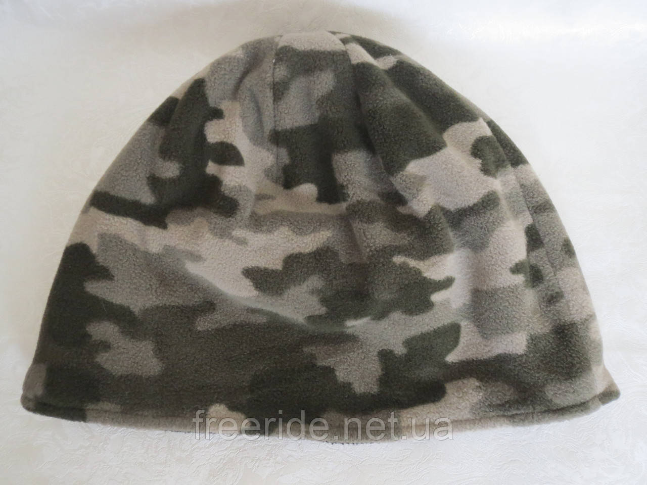 Шапка флисовая, камуфляжная (XL) 58-60