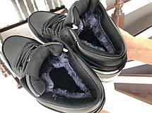 Высокие зимние подростковые кроссовки Nike Air Jordan 1 Retro,черно-белые, фото 3
