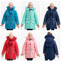 Зимняя куртка-парка для девочки Снежинка 2-8 лет, фото 1