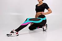Яркие спортивные женские лосины для фитнеса, сетка, размер 42-48 бифлекс