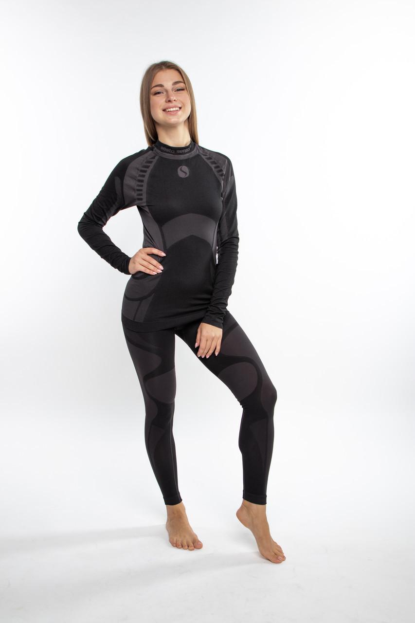 Термобелье женское спортивное Sesto Senso Active (original) зональное бесшовное, комплект