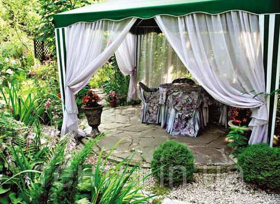 Пошив шатров и палаток для сада, штор на беседки и террасы, москитные тюли