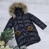 Зимняя куртка 2032 цвет только черный на 100% холлофайбере размеры от 122 см до 146 см рост