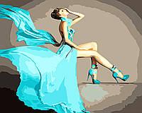 Художественный творческий набор, картина по номерам Бирюзовое платье, 50x40 см, «Art Story» (AS0568), фото 1