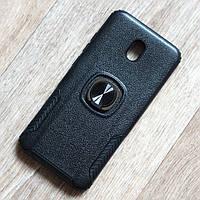 Противоударный чехол с кольцом держателем для Xiaomi Redmi 8A (черный), фото 1