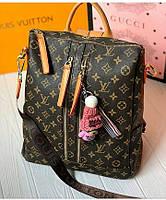 Женский брендовый рюкзак сумка трансформер Louis Vuitton Луи Виттон 4
