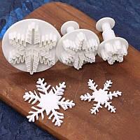 Формочка плунжер   для мастики Снежинка, фото 1