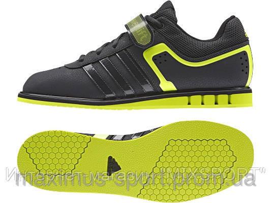 Штангетки Adidas Powerlift 2 (черно/салатовые) 2015