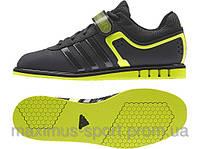 Штангетки Adidas Powerlift 2 (черно/салатовые) 2015, фото 1