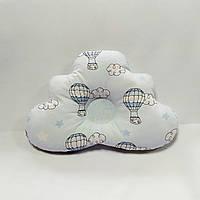 Ортопедическая подушка для младенца masterwork cloud 25*36 см. голубая в.шар