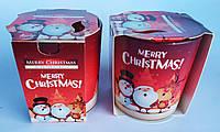 Свечи ароматизированные в стакане Bispol Польша Новый год