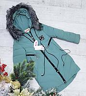 Зимняя куртка 66-462  с наушниками на 100% холлофайбере размеры от 128 см до 152 см рост, фото 1