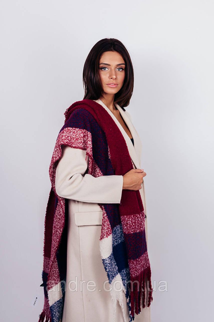 Тёплые шарфы Моника, бордовый