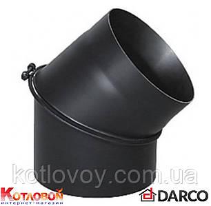 Отвод (колено) 45°/90° для дымохода из чёрной стали Darco