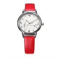 Часы Ритм сердца/ кварцевые/ цвет ремешка красный