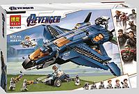 """Конструктор Bela 11261 """"Модернизированный квинджет Мстителей"""" (аналог Lego Avengers 76126), 872 дет"""