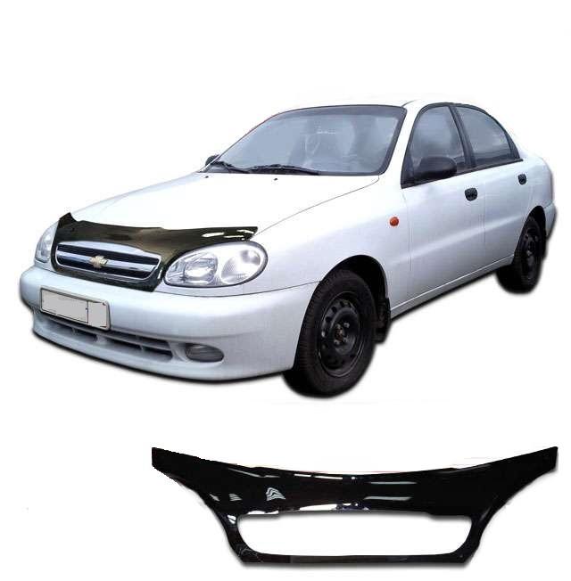 Дефлектор капота  Chevrolet Lanos с 2005 с решеткой радиатора, Мухобойка Chevrolet Lanos