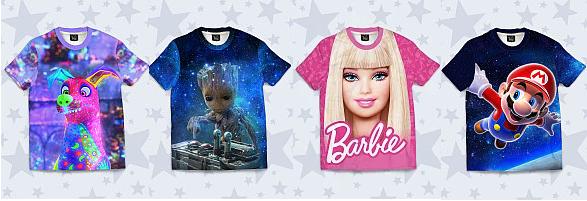 Дитячі футболки з героями ігр, фільмів, мультиків