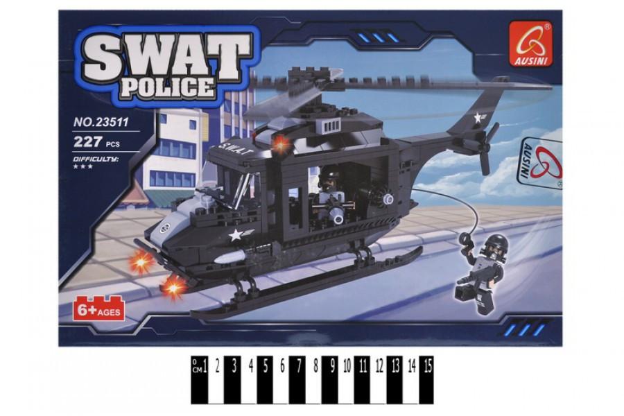 """Конструктор Ausini SWAT POLICE 23511 """"Полицейский вертолёт"""", 227 дет."""