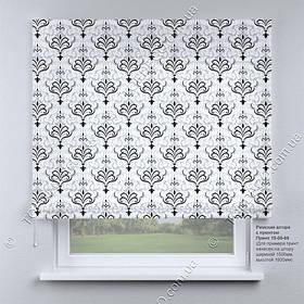Римская фото штора Вензель черный. Бесплатная доставка. Инд.размер. Гарантия. Арт. 15-09-69