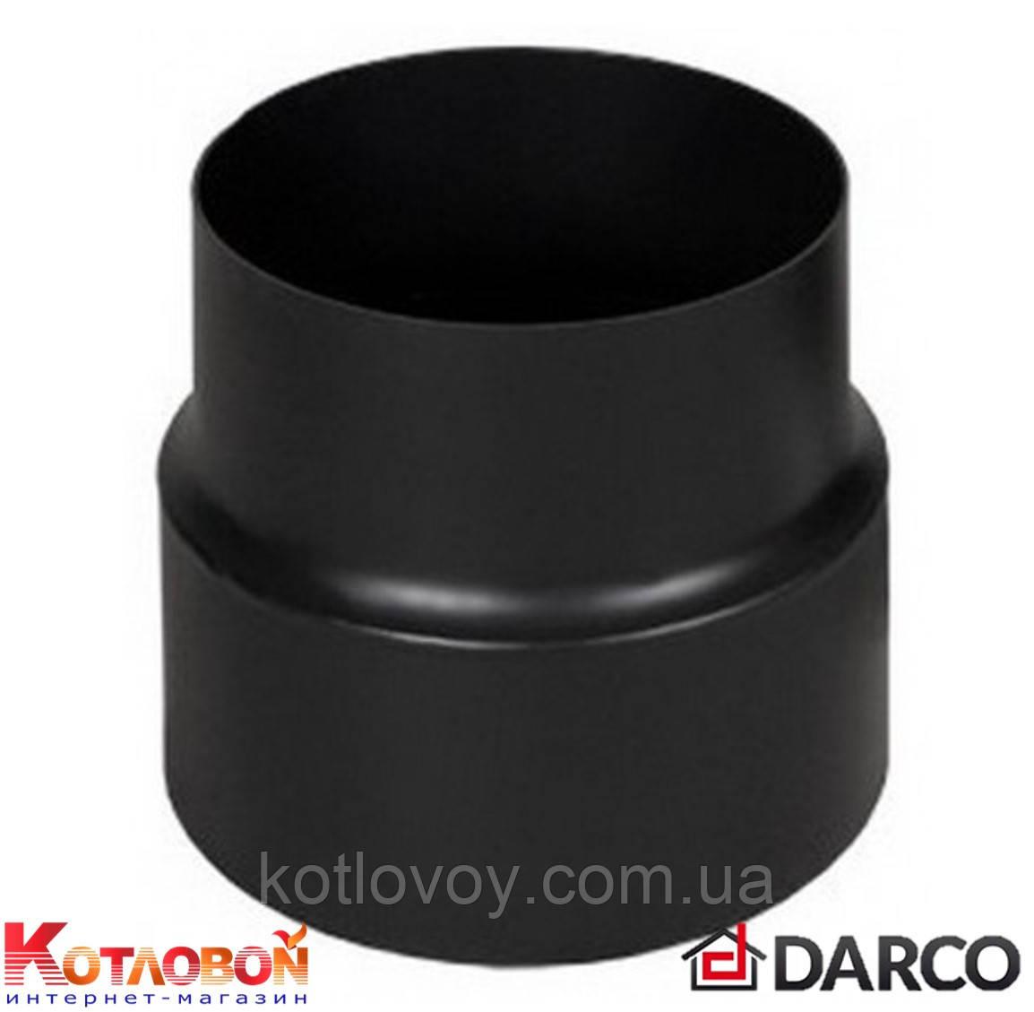 Редукция (переход) для дымохода из чёрной стали Darco