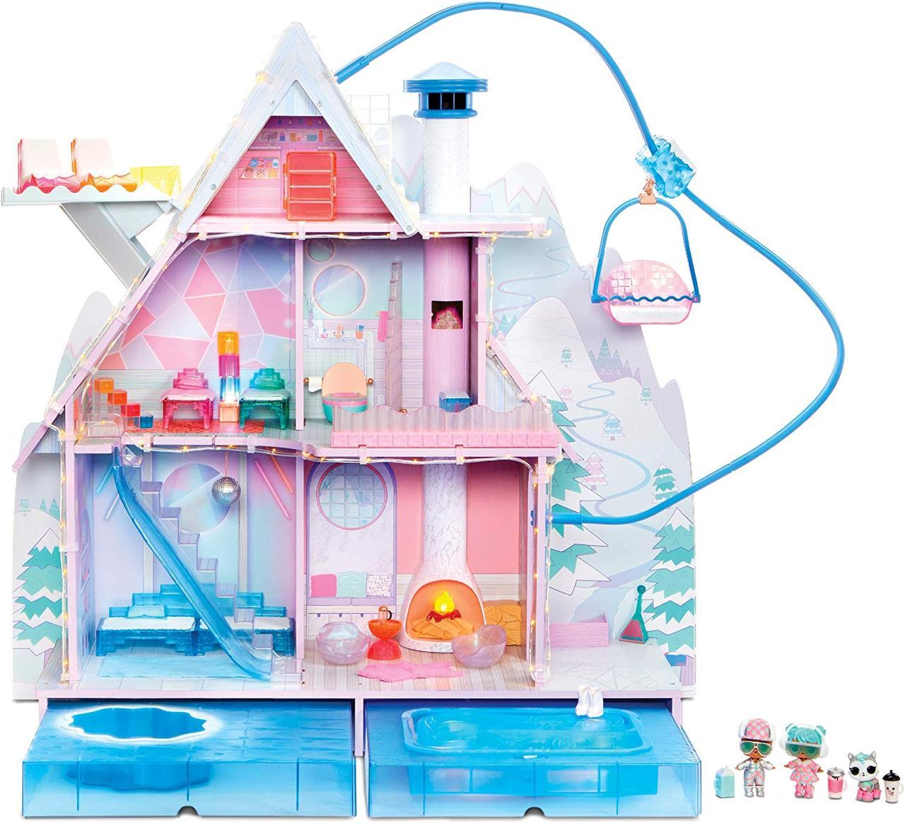 Дом ЛОЛ Зимний особняк для кукол Шале Зимнее диско L.O.L. Surprise! Winter Disco Chalet 95+