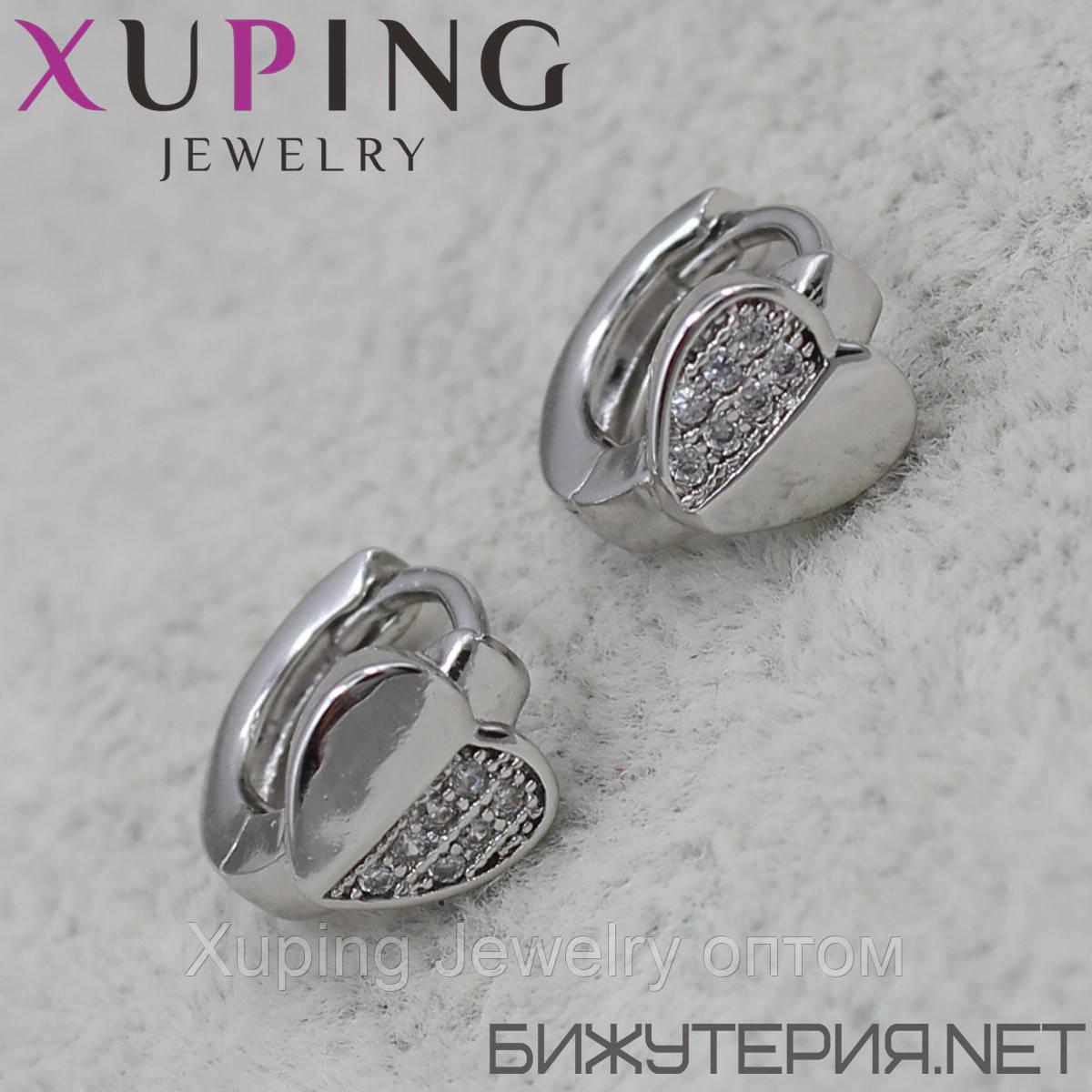 Серьги Xuping медицинское золото Silver - 1032142087