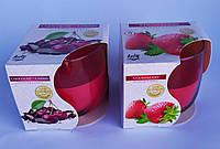 Свечи ароматизированные в стакане  Bispol Польша  фруктовый микс