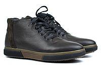 Зимние ботинки мужские кожаные коричневые обувь больших размеров Rosso Avangard North Lion 01-127 BS