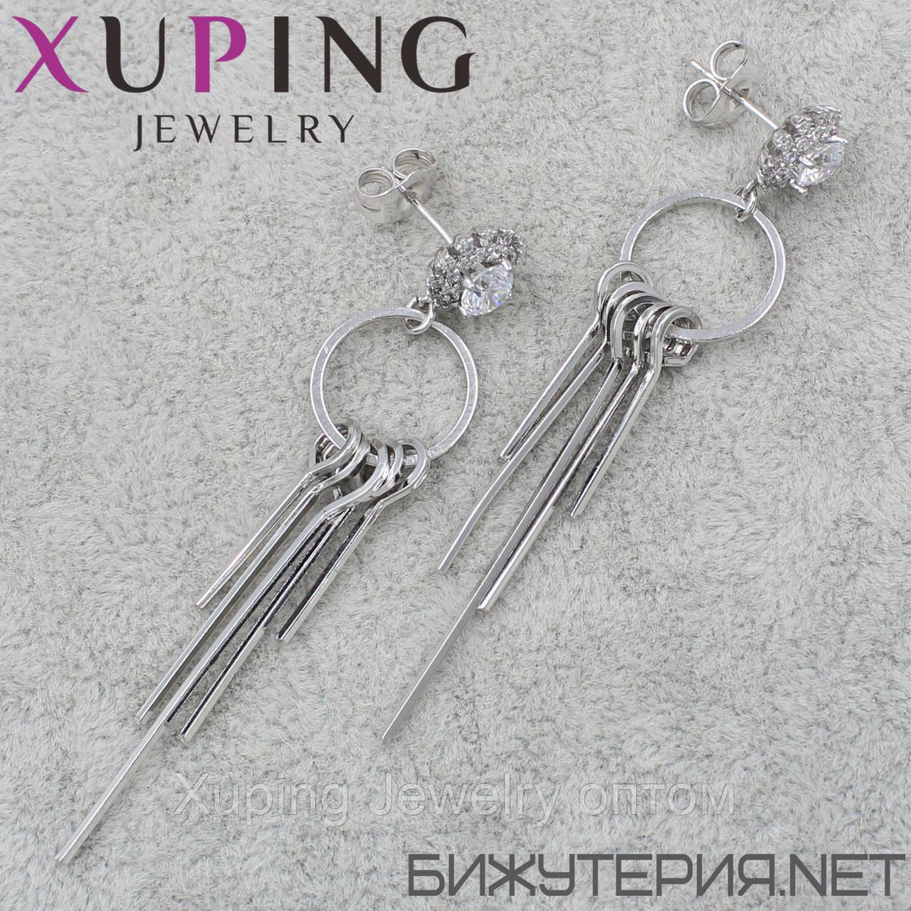 Серьги Xuping медицинское золото Silver - 1033894245