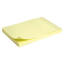Блок паперу з липким шаром 100x150 мм, 100 л., клітина