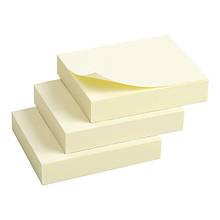Блок паперу з липким шаром 50х40мм,100л.,3шт.жовтий.