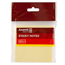 Блок паперу з липким шаром 75x75 мм, 100 л., жовтий