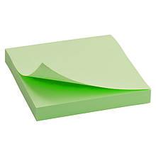 Блок паперу з липким шаром 75x75 мм, 100 л., зелен.