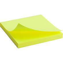 Блок паперу з липким шаром 75x75 мм, 80 л, яскраво-жовтий