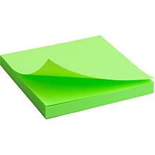 Блок паперу з липким шаром 75x75 мм, 80 л, яскраво-зел