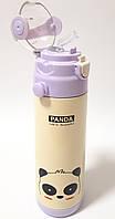 Дитячий термос с трубочкою - Панда (0,5 літра/сталевий)