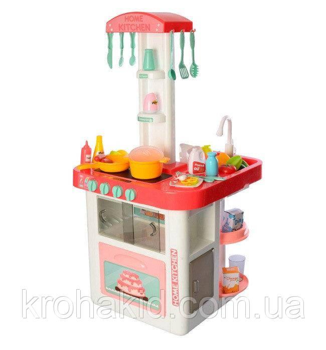 Велика дитяча ігрова кухня 889-59-60 на 40 предметів, З КРАНА ТЕЧЕ ВОДА, ЗВУК, СВІТЛО (82х41х39 див.)