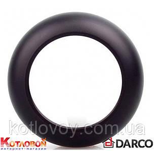 Розетта для дымохода из чёрной стали Darco