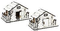 Домик заготовка для творчества Атлас,№15 с открыванием двери 15*8*9 см МДФ M-2088
