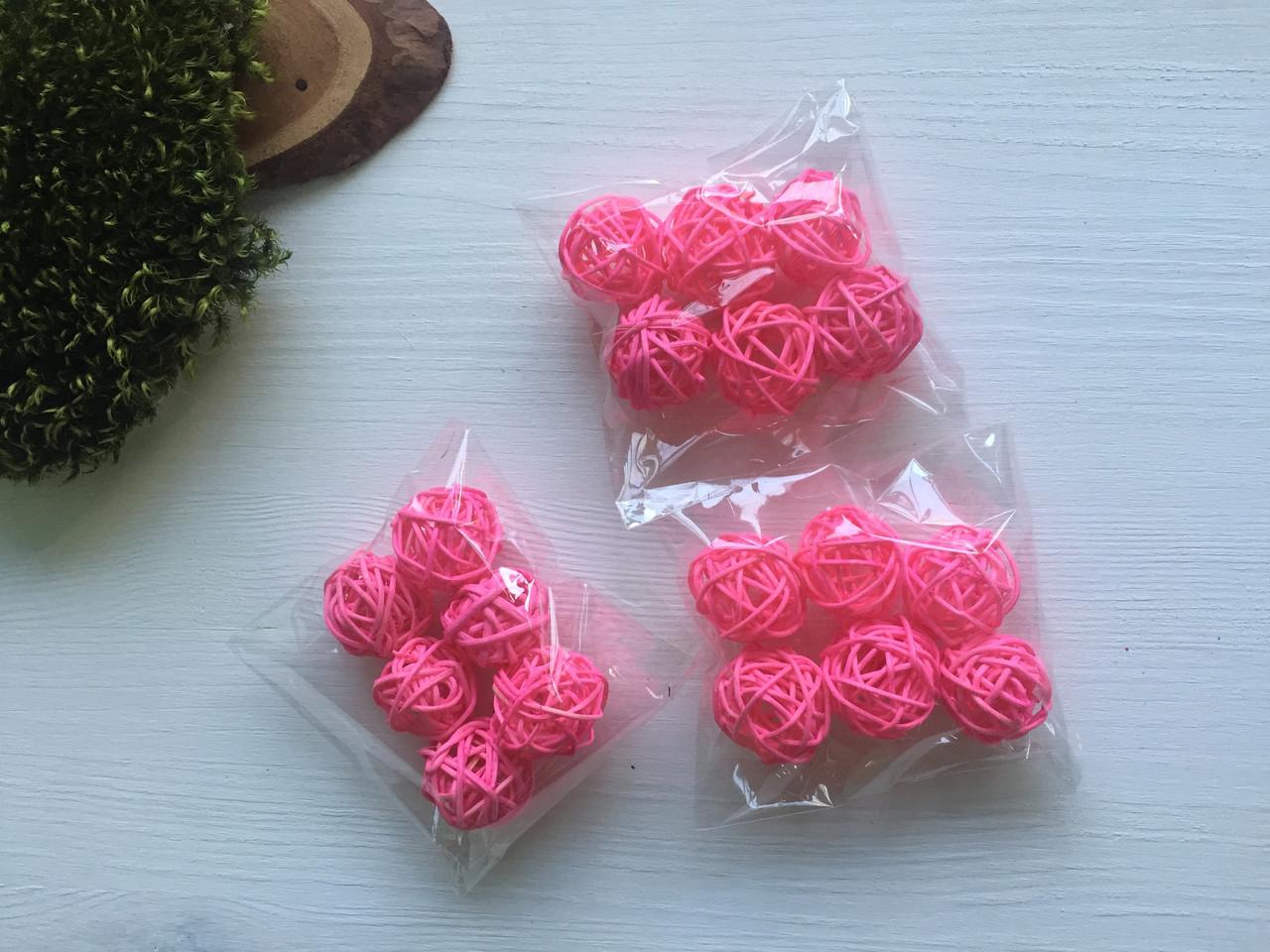 Ротанговые шарики 3 см ( упаковка 6 шт )