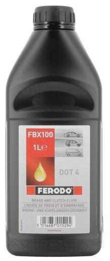 Тормозная жидкость FERODO Brake Fluid DOT4 1 л.
