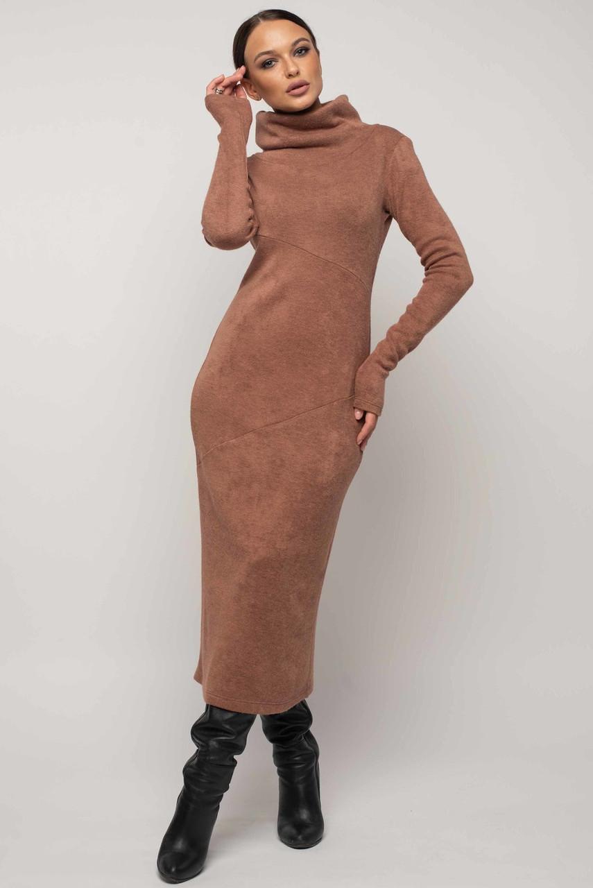Теплое платье с 42 по 52 размер