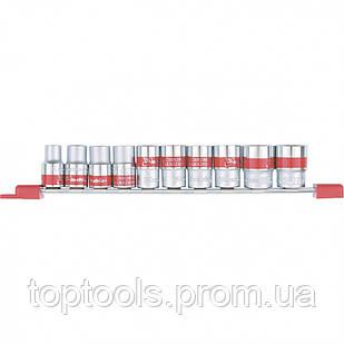 Набор универсальных торцевых головок 1/2, SpLine, CrV, 10 шт., 10-22 мм MTX