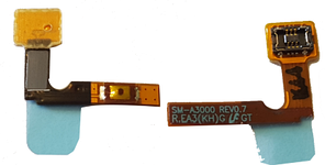 Шлейф для Samsung SM-A300F Galaxy A3 с кнопкой включения, original (PN:GH96-07716A)